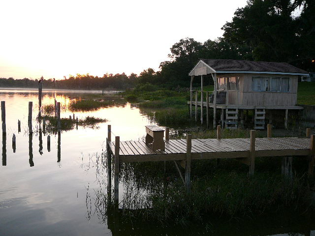 Looking East from dock